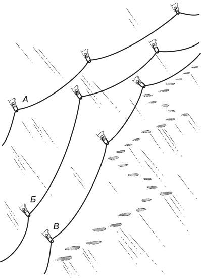 Схема расположения крюков.